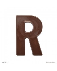 image: Jumbo Letter alphabet Chocolate Mould R