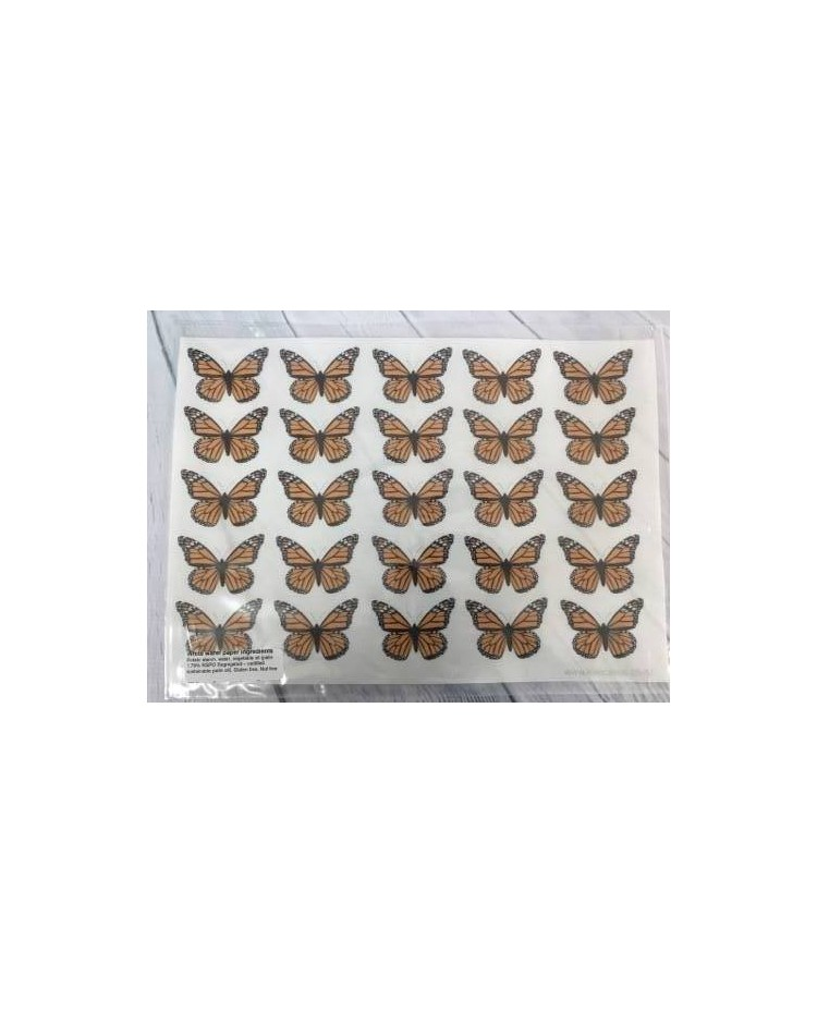 image: Wafer paper sheet Monarch Butterfly Butterflies