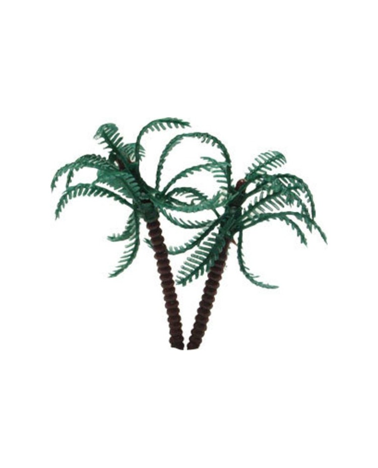 image: Twin Palm Tree 85mm cake topper great for Pirate Island cakes