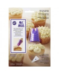 image: Duo piping tip nozzle Wilton pipe 2 styles of icing at same time