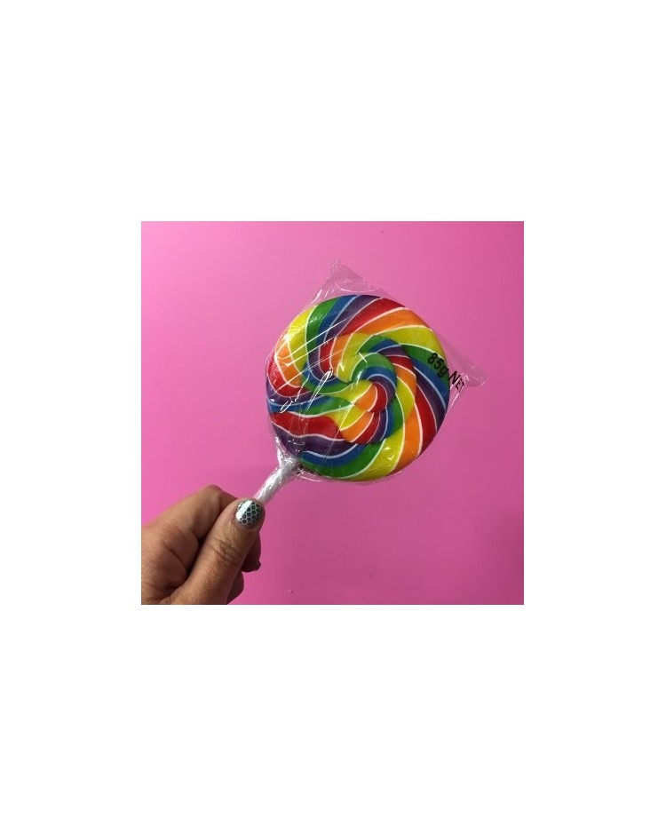 image: Rainbow Swirly lollipop XTRA LARGE (great for drip cakes)