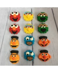image: Sugar Icing decorations Sesame St Bert Ernie Elmo Big Bird (12)