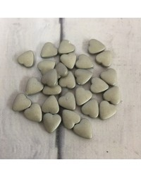 image: Heart dragee Silver lustre finish 100g