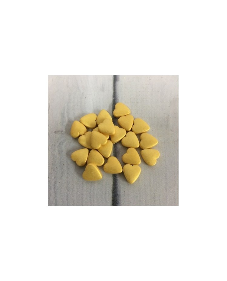 image: Heart dragee Gold lustre finish 100g