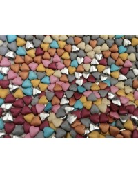 image: Heart dragee Multi colour mix lustre finish 100g