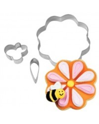 image: Flower & Bee Stackable cookie cutter set