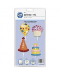 image: Birthday Party lollipop chocolate mould Balloon cupcake cake hat