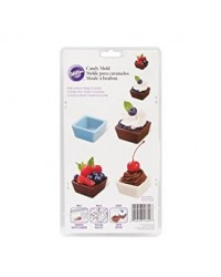 image: Square dessert cup chocolate mould 2 piece set