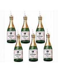 image: Champagne bottle candles set 6