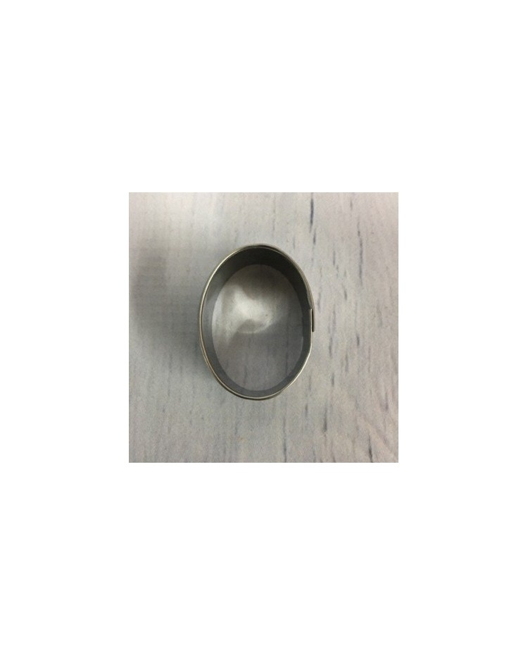 image: Oval stainless steel cutter