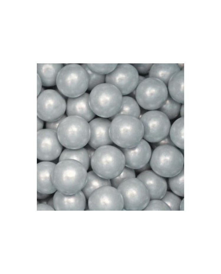 image: Giant silver shimmer gumballs (great for drip cakes) pack 10