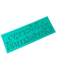 image: Merry Christmas words or phrase silicone mould