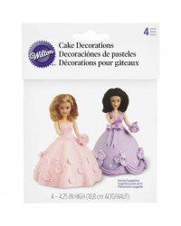 image: Mini doll picks pack 4 (for dolly varden cakes)