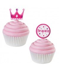 image: Princess & tiara fun cupcake picks