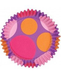 image: Colourcups foil (no grease cupcake papers) Pink purple orange #1