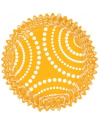 image: Colourcups foil (no grease cupcake papers) Yellow with dots
