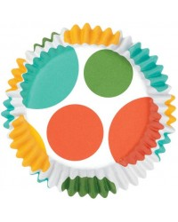 image: Colourcups foil (no grease cupcake papers) RAINBOW DOTS #2