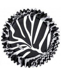 image: Colourcups foil (no grease cupcake papers) Zebra Black & White
