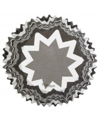 image: Colourcups foil (no grease cupcake papers) Chevron Black & White