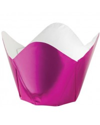image: Foil pleated Baking cups cupcake papers (15) Pink