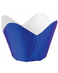 image: Foil pleated Baking cups cupcake papers (15) Blue