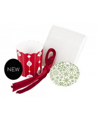 image: Christmas straight sided cupcake paper set with tags & bags