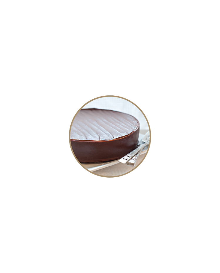 "image: Chocolate cake round 9""/22.5cm in store pick up only"