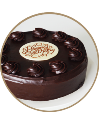 "image: Chocolate cake ""Happy Birthday"" 9""/22.5cm in store pick up only"