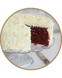 "image: Red Velvet cake round 9""/22.5cm in store pick up only"