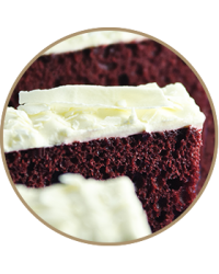 image: Red Velvet cake slab in store pick up only