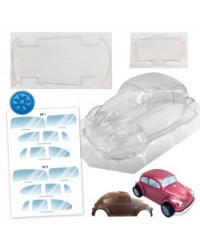 image: VW Beetle car chocolate mould with wheels & windscreen detail XL
