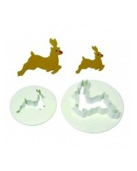 image: Reindeer set 2 Christmas PME cutters 25mm & 40mm