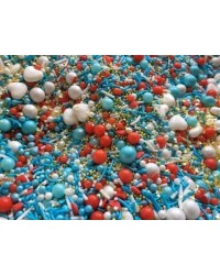 image: Sprinkle Medley Summer Holiday (blue white red gold) 150g