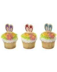 image: Jandals pack of 12 cupcake picks #2