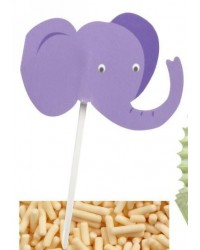 image: Elephant head cupcake picks (24)