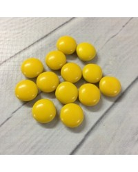 image: Chocolate drop gems buttons YELLOW 100g
