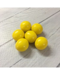 image: 18mm Yellow chocolate balls or pearls hard shell candy