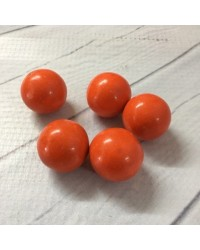 image: 20mm Giant orange hard shell candy chocolate balls (10)