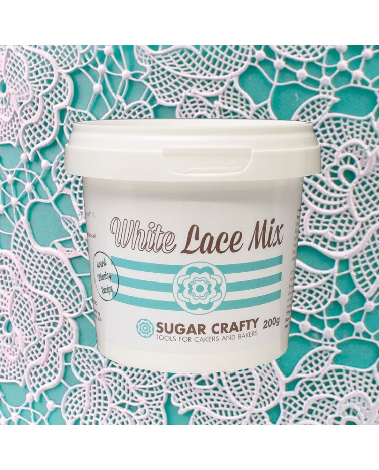 image: Cake Lace edible lace mix WHITE 200g by Sugar Crafty