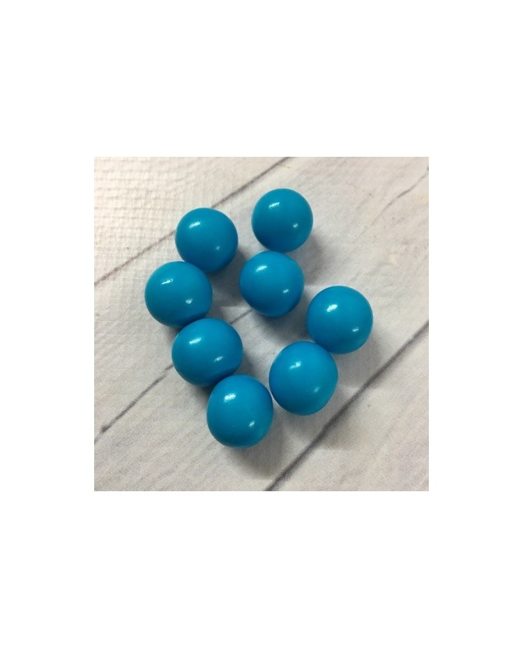 image: 18mm Blue chocolate balls or pearls hard shell candy