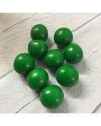 image: 18mm Green chocolate balls or pearls hard shell candy
