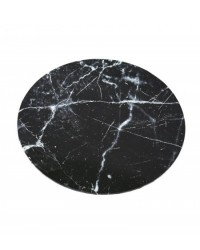 "image: Black Marble Masonite Cake board 10"" round"