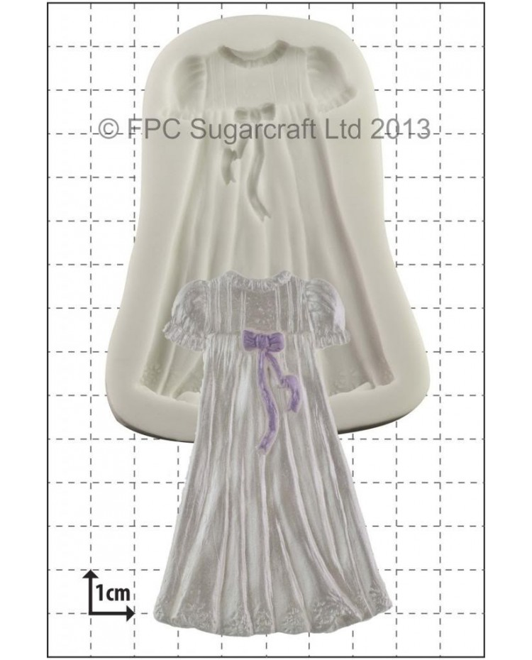 image: Baby Christening Gown silicone mould