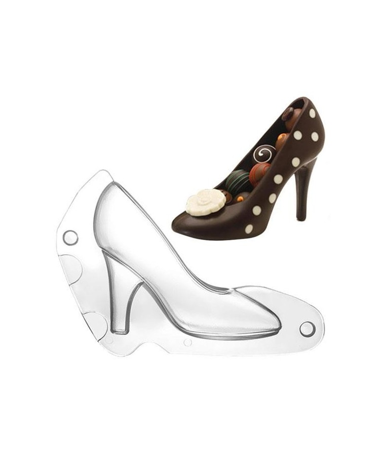 image: 3d stiletto high heel chocolate mould 2 piece mould