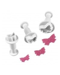 image: Set 3 mini butterfly plunger cutters PME