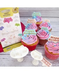 image: Set 2 Happy Birthday Plunger ejector cutters PME