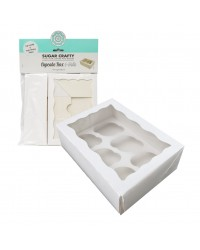 Cupcake box WHITE (holds 6) by Sugar Crafty