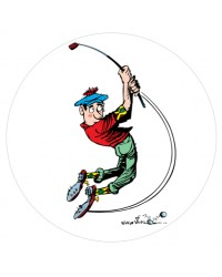 Edible Image Comical Golfer Golfing theme