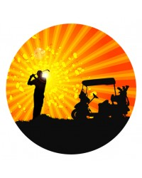 Edible icing image Silhouette Golfer Golfing theme