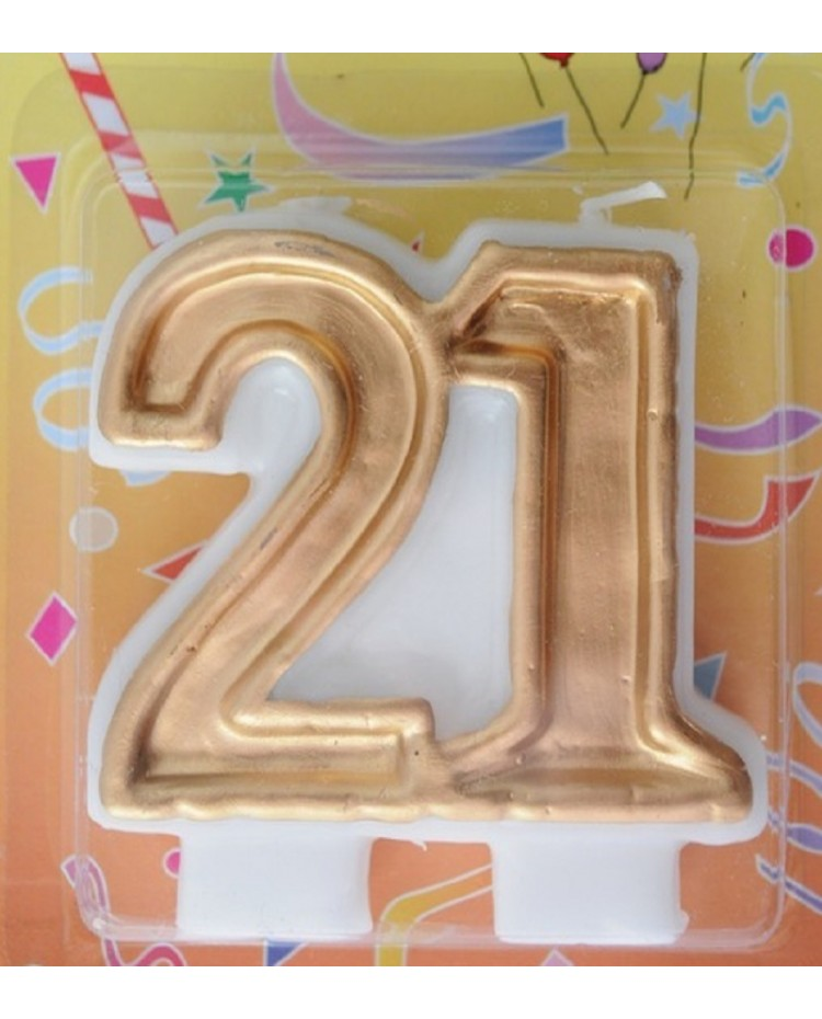 Gold 21 Candle 21st Birthday